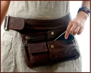 best leather fanny pack